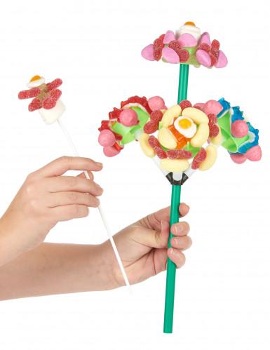 Support à bonbon bouquet de 4 fleurs-2