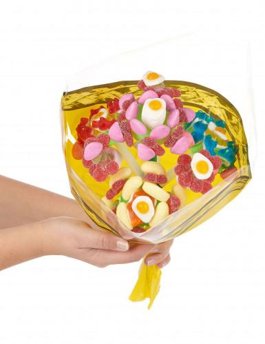 Support à bonbon bouquet de 4 fleurs-1