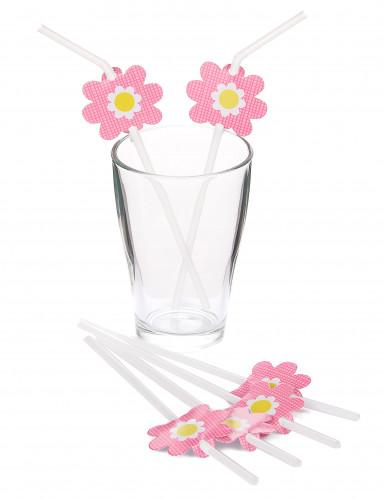 6 Pailles fleurs-1