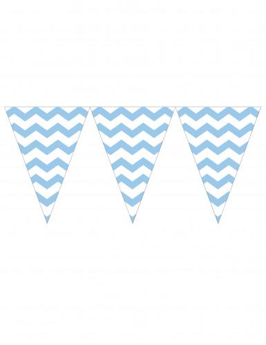 Guirlande fanions bleu ciel 274 cm