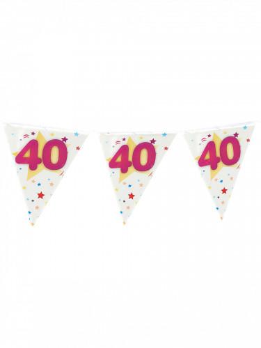 Guirlande fanions âge imprimé 40 ans