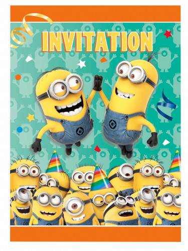 8 Cartes d'invitation Minions ™