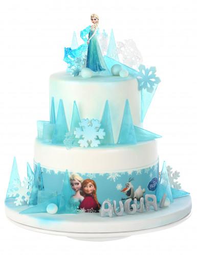 3 Bandes en sucre décoration gâteau La Reine des Neiges™-2