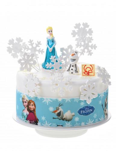 3 Bandes en sucre décoration gâteau La Reine des Neiges™-1