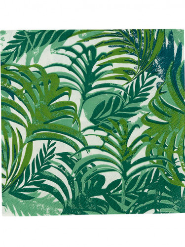 20 Petites serviettes en papier Tropical Jungle
