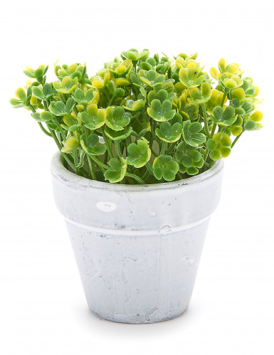 Petit pot fleurs artificielles vert clair