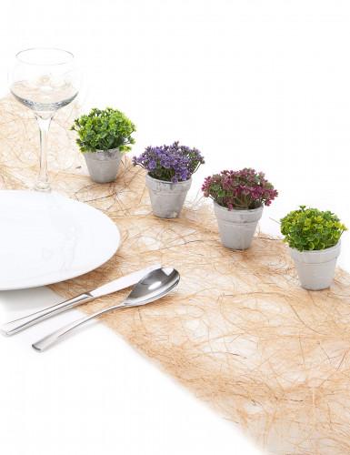 Petit pot fleurs artificielles violettes-1
