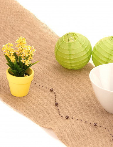 Petite plante fleurs artificielles jaunes-1