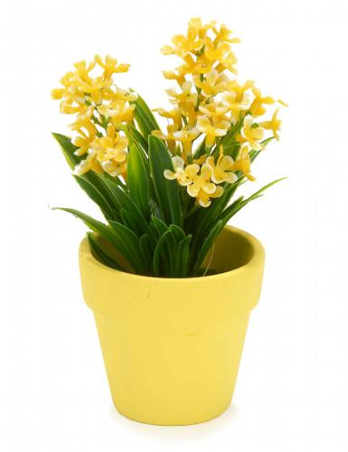 Petite plante fleurs artificielles jaunes