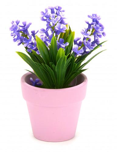 Petite plante fleurs artificielles violettes