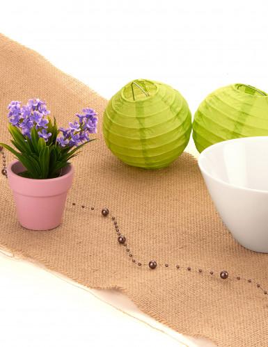 Petite plante fleurs artificielles violettes-1