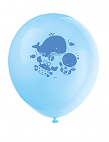 8 Ballons 1er anniversaire Océan