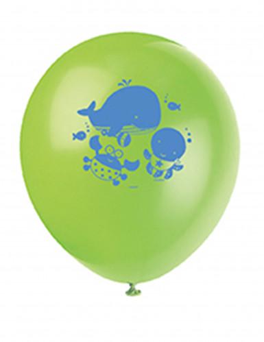 8 Ballons 1er anniversaire Océan-1