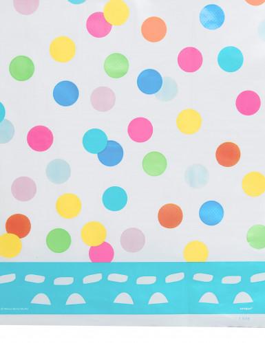 Nappe plastique Happy Birthday turquoise-1