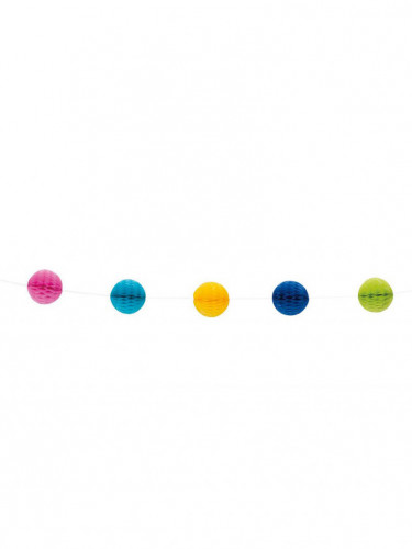 Guirlande boules alvéolées multicolores 213 cm