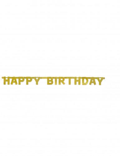 Guirlande articulée Happy Birthday doré 121 cm