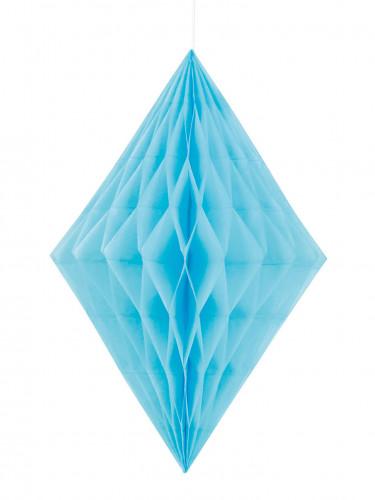 Losange alvéolé bleu 35 cm