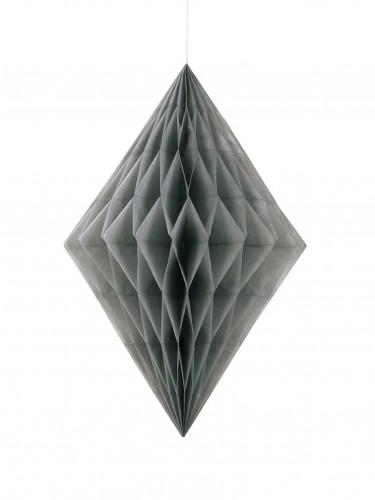 Losange alvéolé gris 35 cm