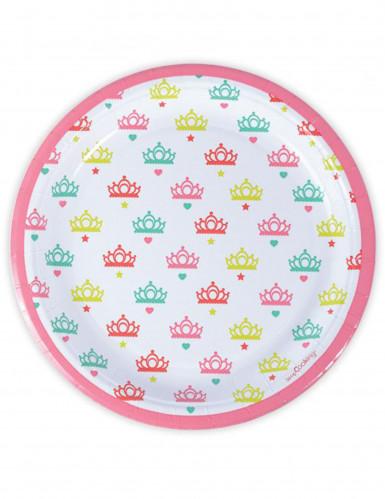 8 Assiettes en carton Princesse 23 cm
