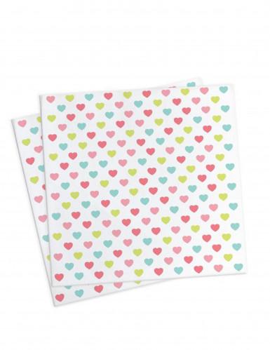 20 Petites serviettes en papier Princesse 25 x 25cm