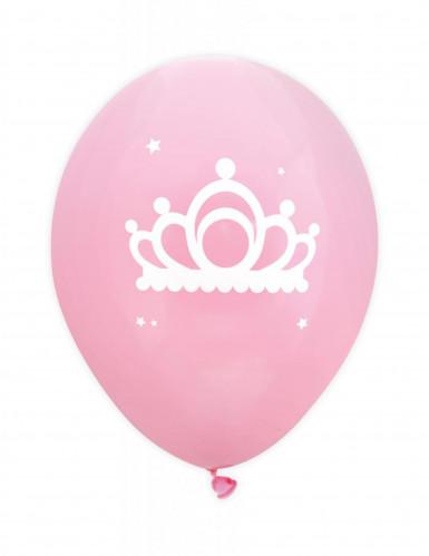 6 Ballons latex roses Princesse 25 cm