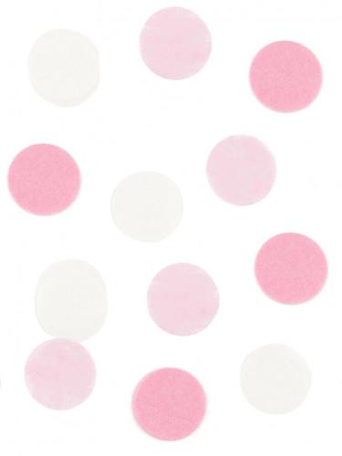 Confettis en papier blanc et rose 20gr