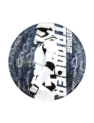 8 Petites assiettes Stormtrooper STAR WARS VII™ 20 cm