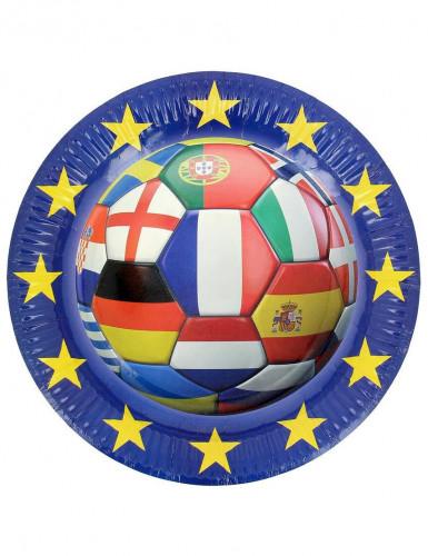 6 Assiettes en carton Foot euro 2016 23 cm