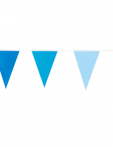 Guirlande petits fanions bleus 2 m-1