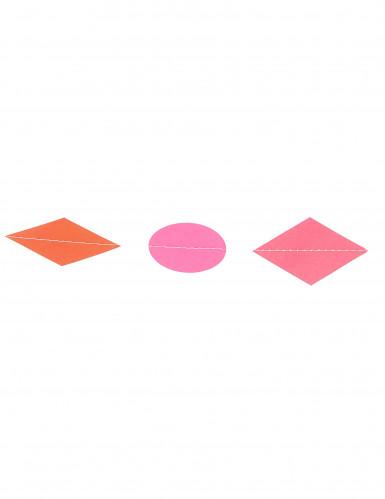 Mini guirlande petites formes géométriques multicolores 3 m-1