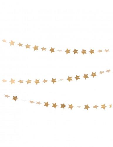 Guirlande mini étoiles dorées 3 m