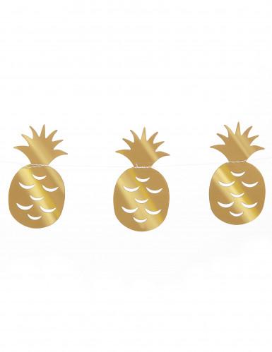 Guirlande petits ananas dorés 3 m-1