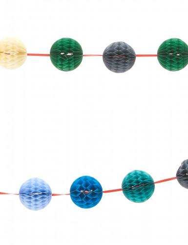 Guirlande mini boules alvéolées multicolores 3 m-1