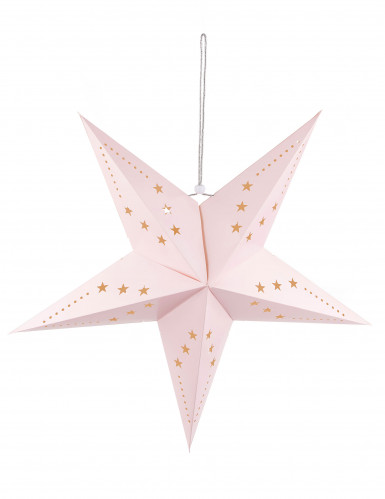 Lanterne étoile rose clair 60 cm