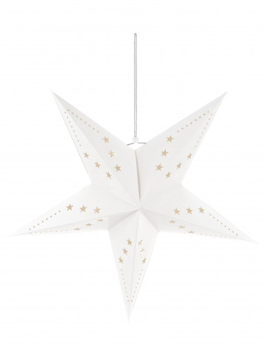 Suspension étoile blanche 60 cm