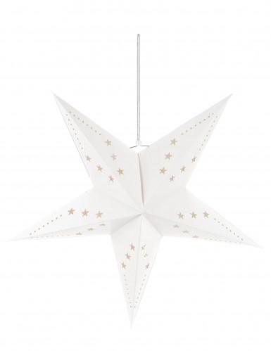 Décoration étoile blanche à suspendre 60 cm