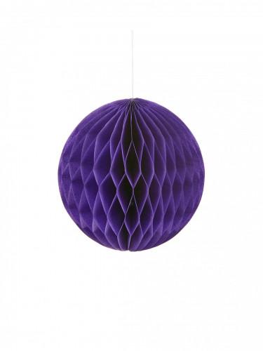 Mini boule papier alvéolé violette 12 cm