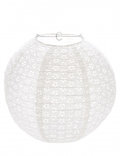 Lanterne dentelle vintage blanche 60 cm