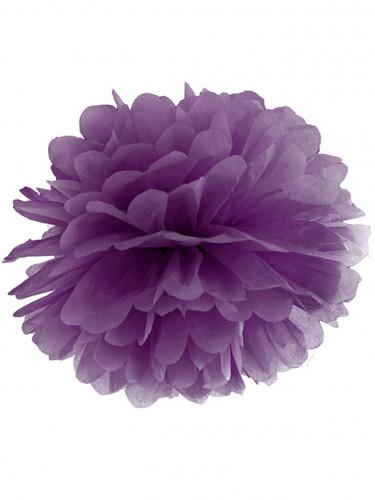Pompon à suspendre en papier violet 35 cm