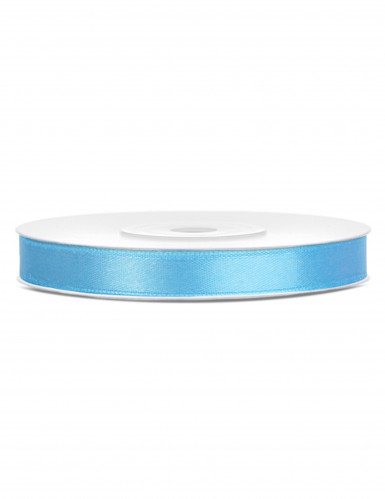 Ruban satin bleu ciel 0.6 cm x 25 m