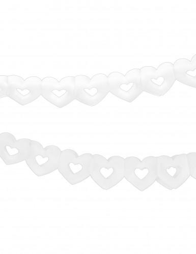 Guirlande papier coeur blanc