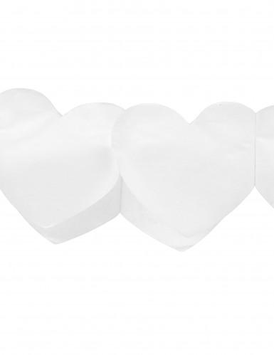 Guirlande papier coeur plein blanc-1