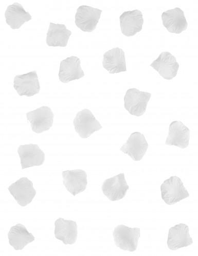 100 Pétales de rose en tissu blanc-1