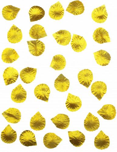 100 Pétales de rose en tissu doré-1