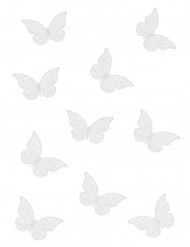 10 Confettis de table papillons nacrés-1