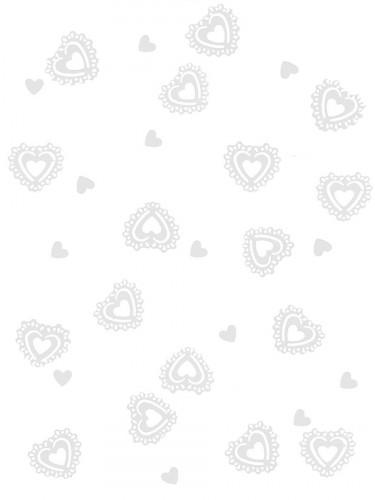 Confettis coeurs blancs 15 gr