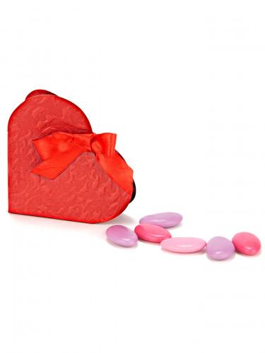 10 Boites à dragées coeur rouge-2