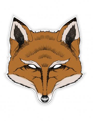 Masque papier cartonné Renard