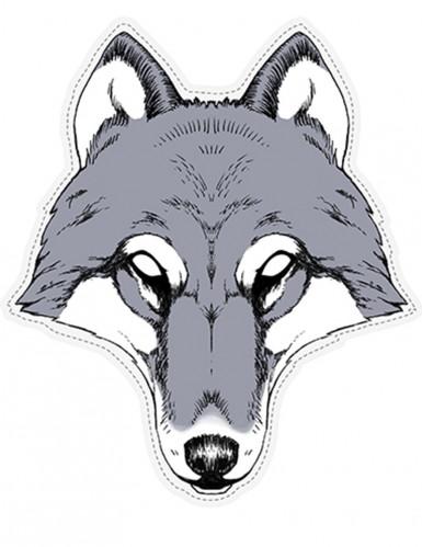 Masque papier cartonné Loup