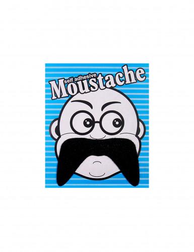 Moustache adhésive noire-1